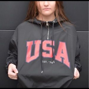 USA vintage style windbreaker jacket